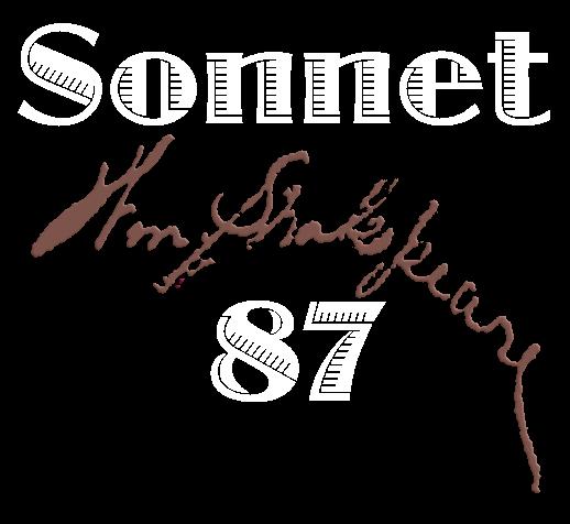 Sonnet 87